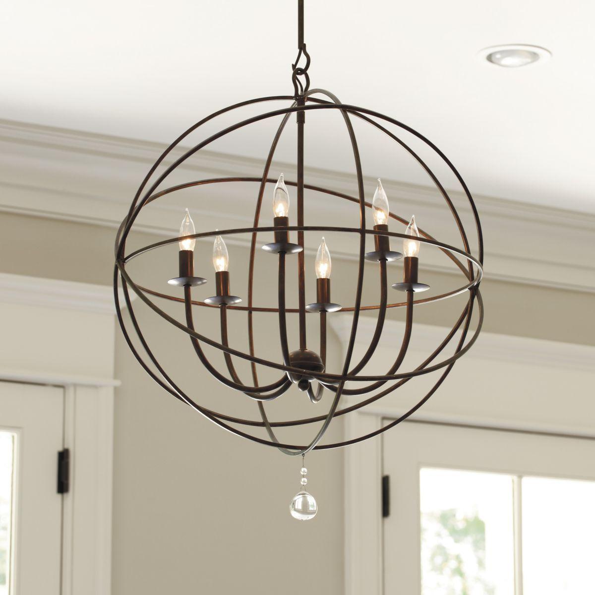 Orb chandelier home kitchen pinterest orb chandelier