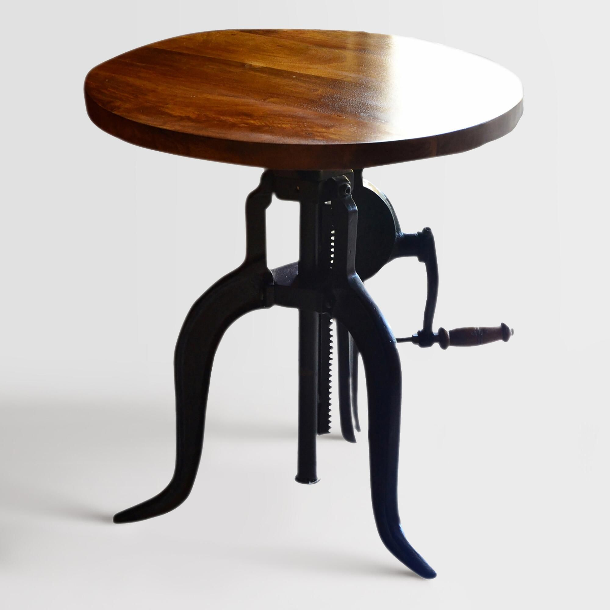 Best Wood And Metal Ornella Adjustable Accent Table By World 640 x 480