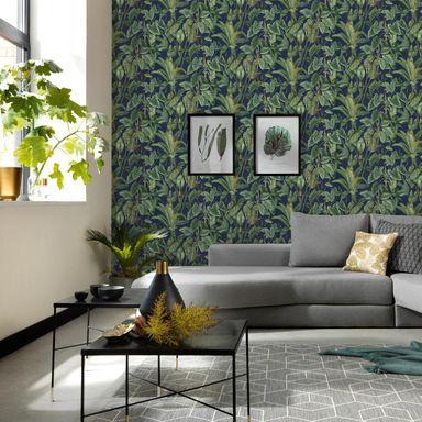 Tapeta W Liscie Paradisio Zielono Granatowa Winylowa Na Flizelinie Tapety Na Sciane W Atrakcyjnej Cenie W Sklepach Leroy Merlin Ko In 2020 Home Decor Home Design