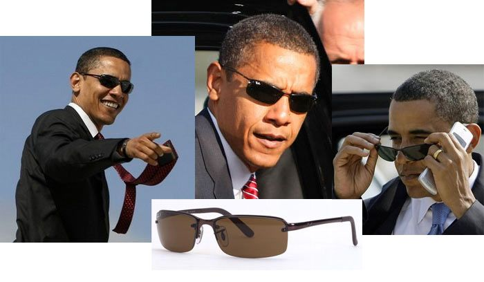 all ray ban sunglasses  RB 3217 on Barack Obama