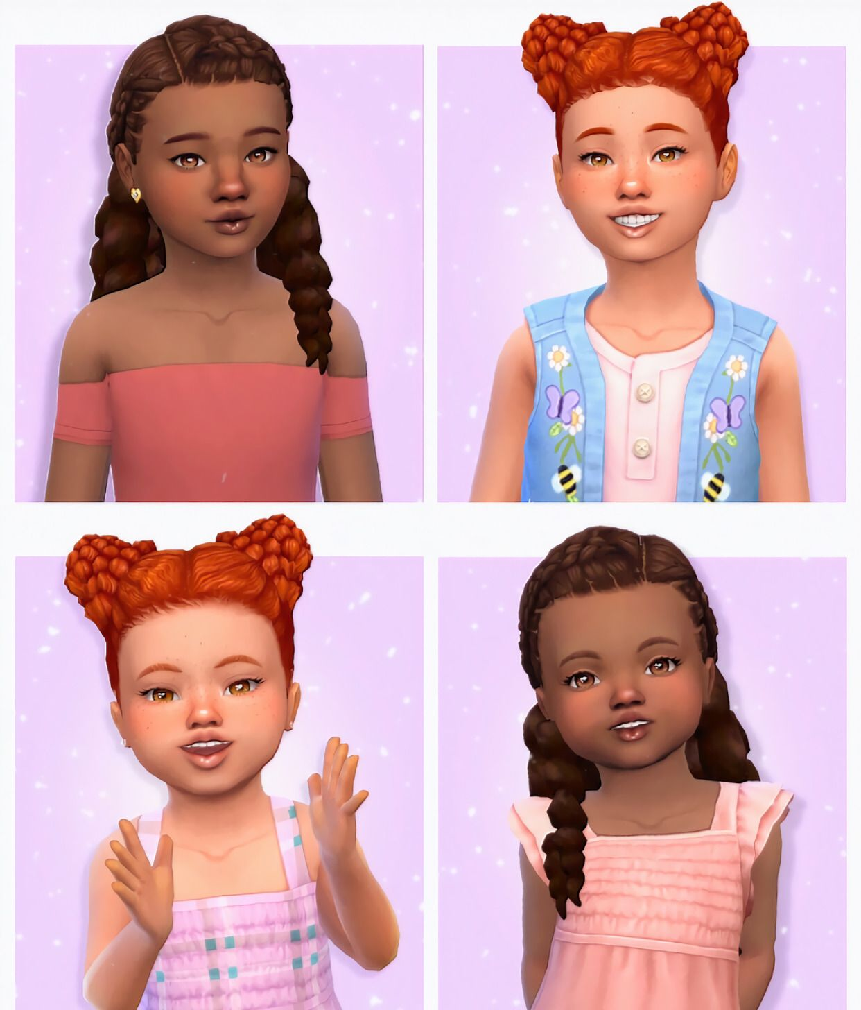 Wifemomsimmer Peachibloom Playing Sims 4 Toddler Hair Sims 4 Toddler Cc Sims 4 Sims 4 Toddler