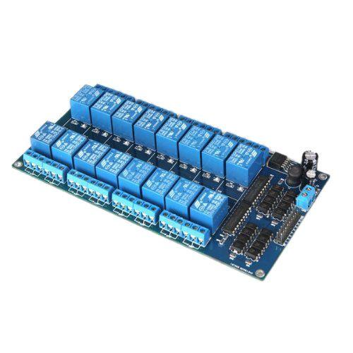 Baixo Ativo 12v Modulo De Rele 16 Canais Placa Para Arduino