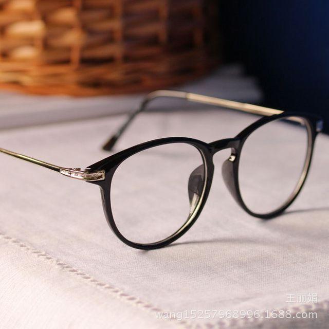 2015 nova marca De moda óculos De armação Oculos De Grau Femininos rodada  computador óculos Vintage Frame ótico espetáculo N118 99296499f2