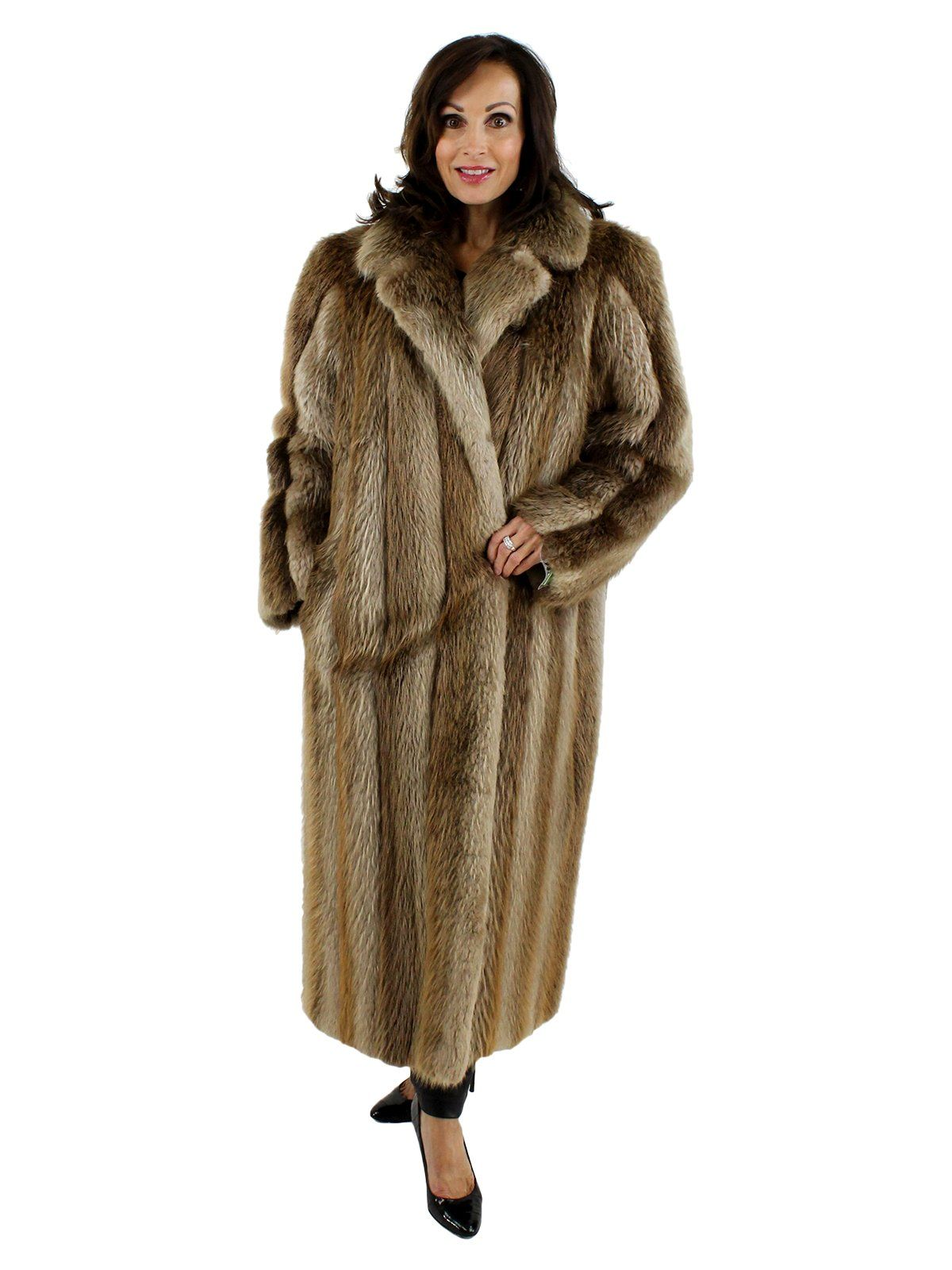 fb3219b37 Blond long hair beaver fur coat, beautiful blond color, very stylish.  Excellent condition. Women's Large - Used - Estate Furs