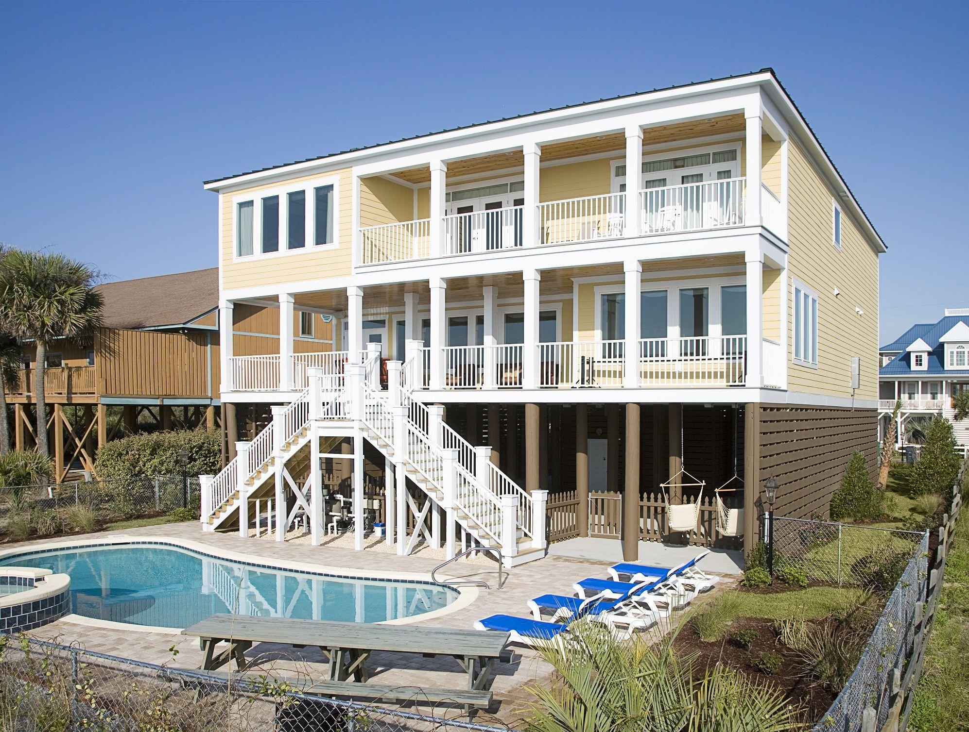 Hakuna Matata 4807 S Ocean Blvd Long Bay Estates Mb Sc 29575 Beach House Vacation Home Oceanfront