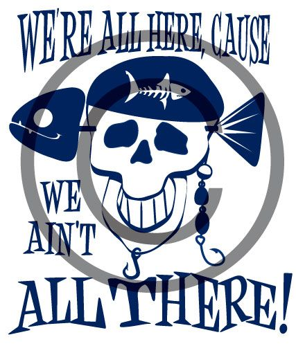Pirate Skull Fishing custom vector design, $40.00