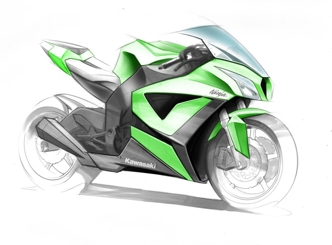 Design Sketches Automotive On Twitter Bike Sketch Motorcycle Artwork Motorcycle Drawing