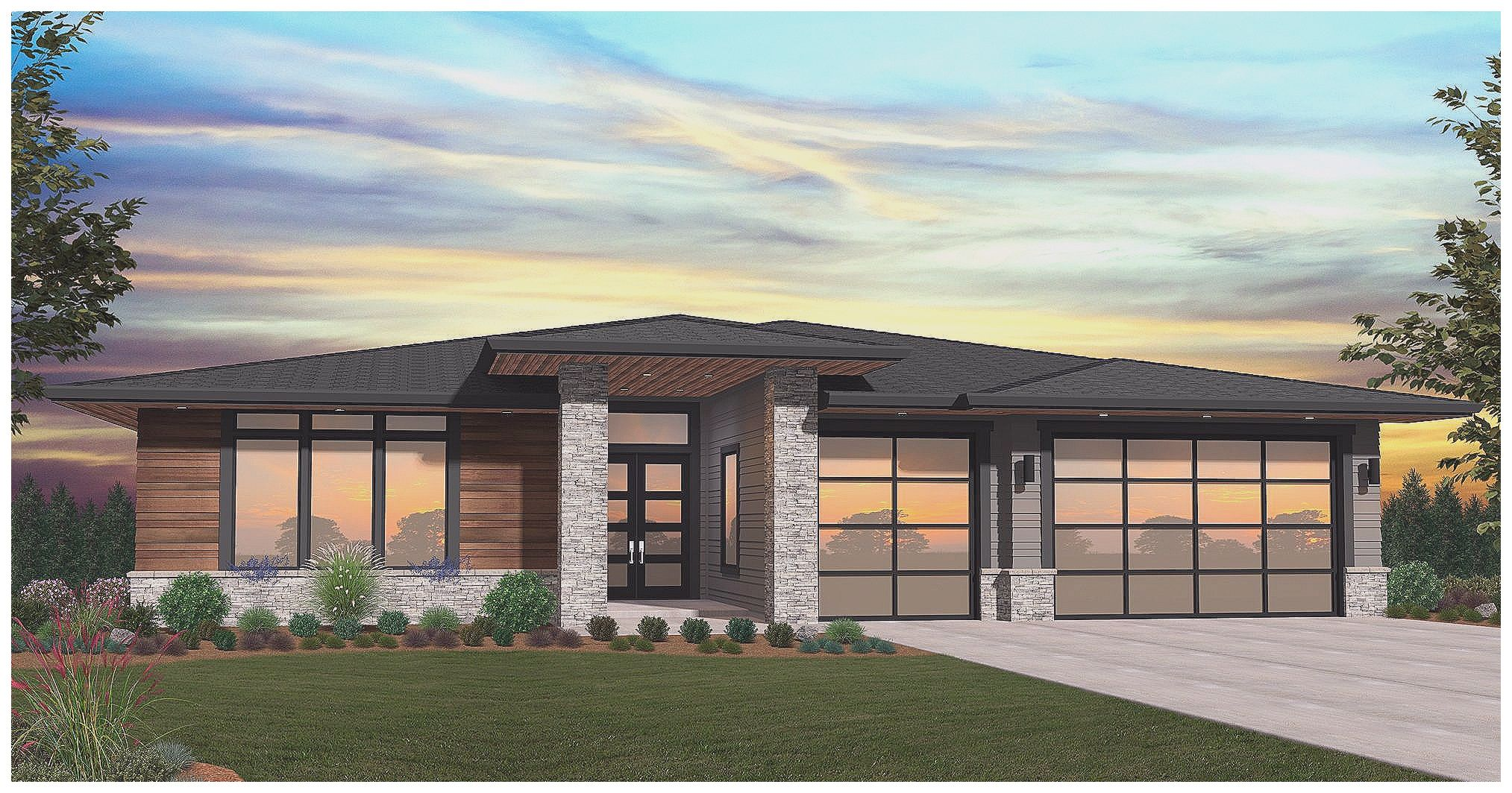 Single Story Modern House Plans Of Homeplans