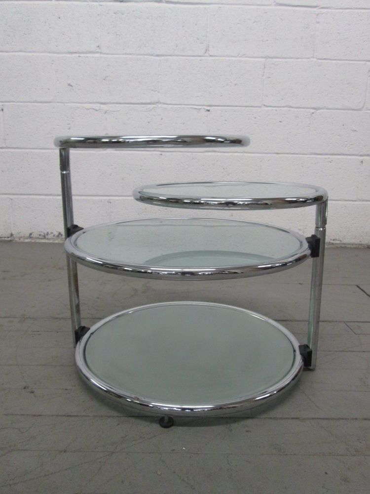 3 Tier Round Glass Chrome Occasional Coffee End Table Modern Round Glass Coffee Table Coffee Table Pictures Round Black Coffee Table