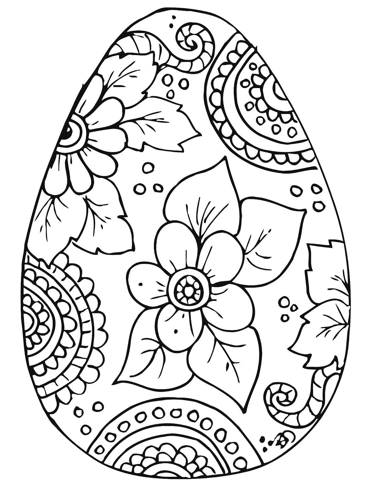 easter coloring Easter egg coloring pages