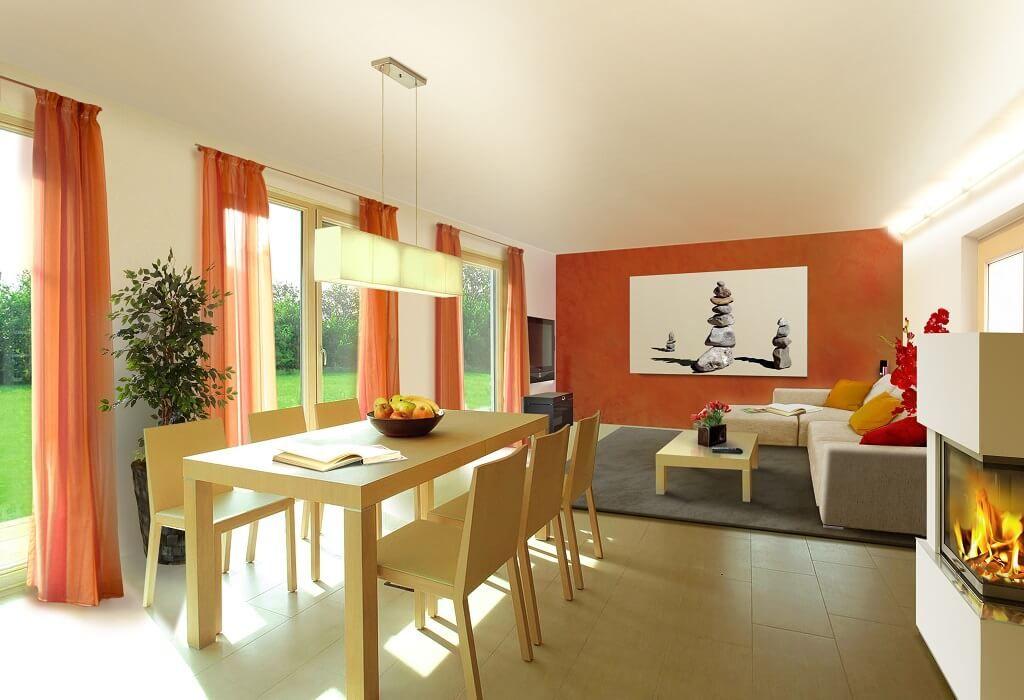 KÜCHE MODERN EINRICHTEN * Massivhaus Flair 113 Town\Country Haus - wohnzimmer mit offener küche