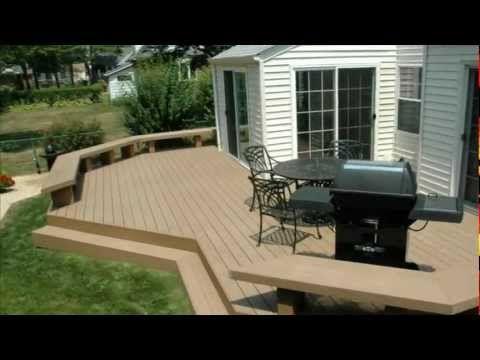 Trex Spice Rum Deck with Aluminum Railing   Trex deck ...
