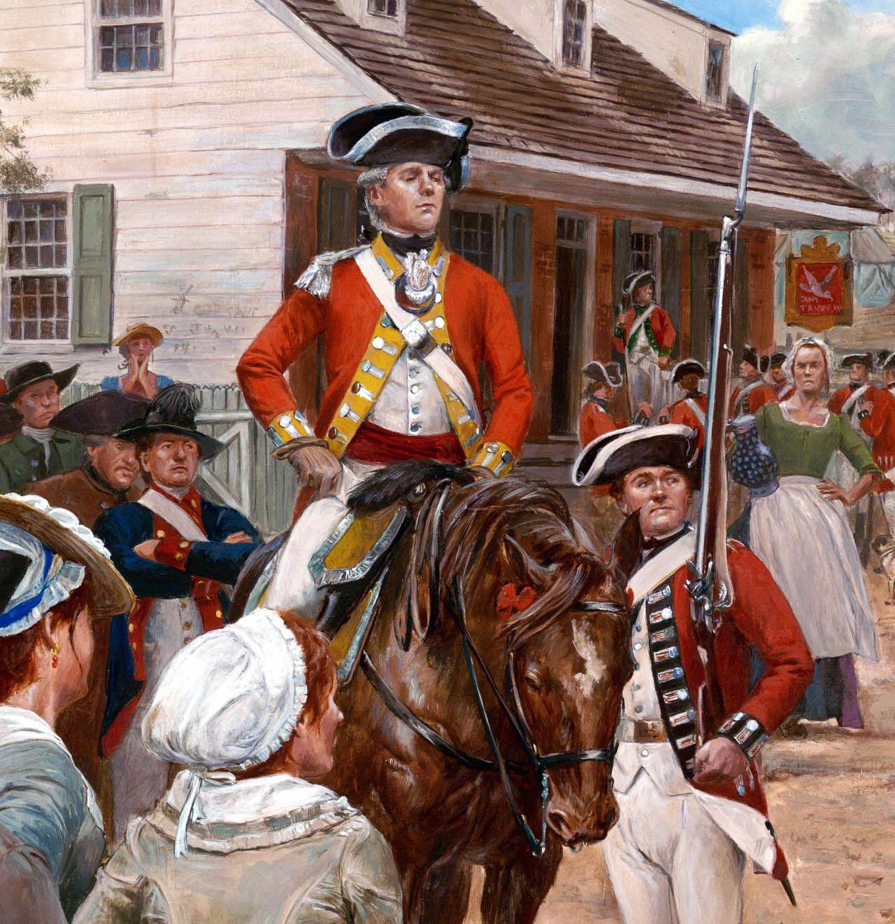 British redcoats in Boston