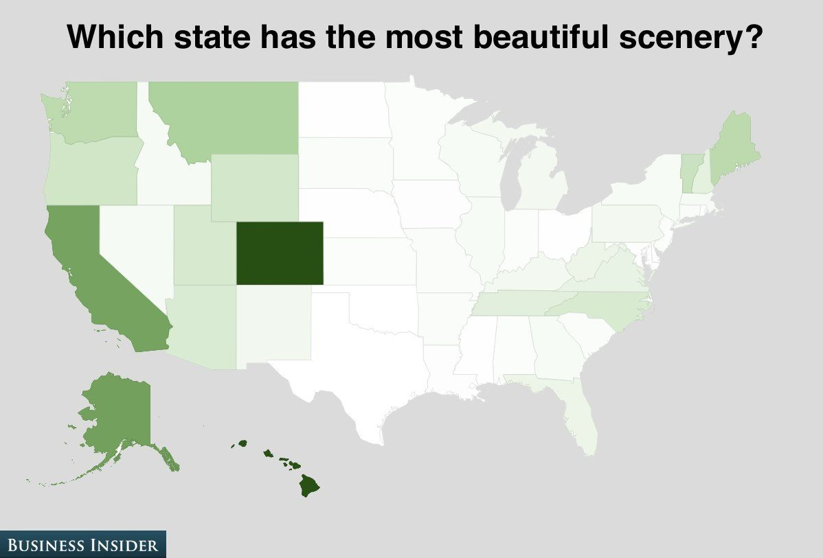 MAP Here Are The Parts Of The US That Get The Most Sunshine Light - Best areas to start a business us map