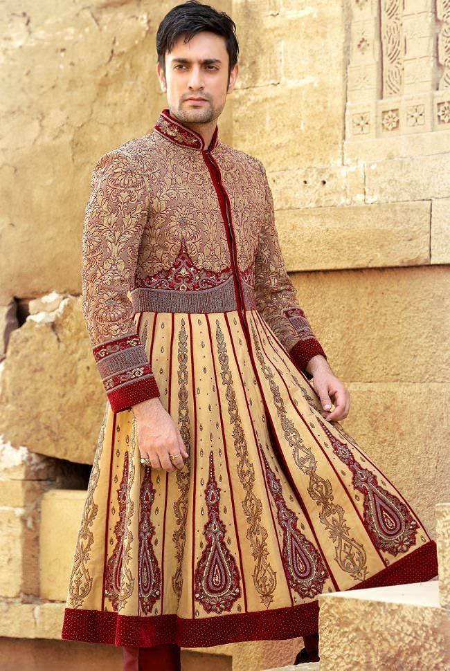c4d0a52e5d 9 Types of Wedding Sherwani every Groom should know | Sherwani groom ...