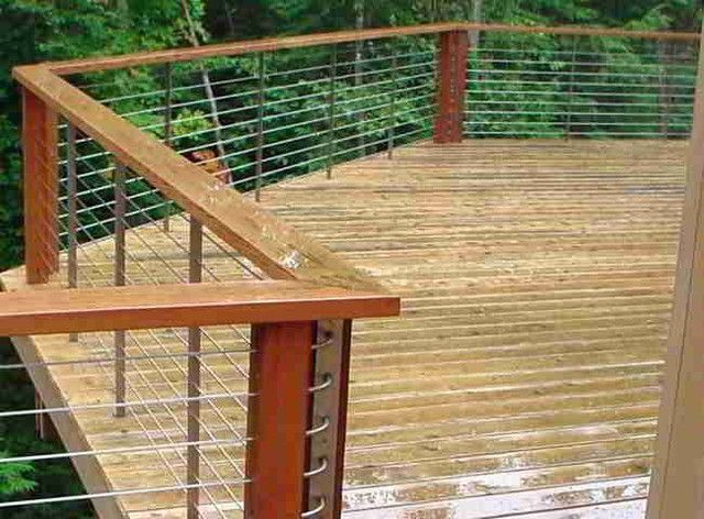 Attractive Modern Wire Fence Deck, Patio, Porch, Balcony Cable Railing Modern Home  Fencing