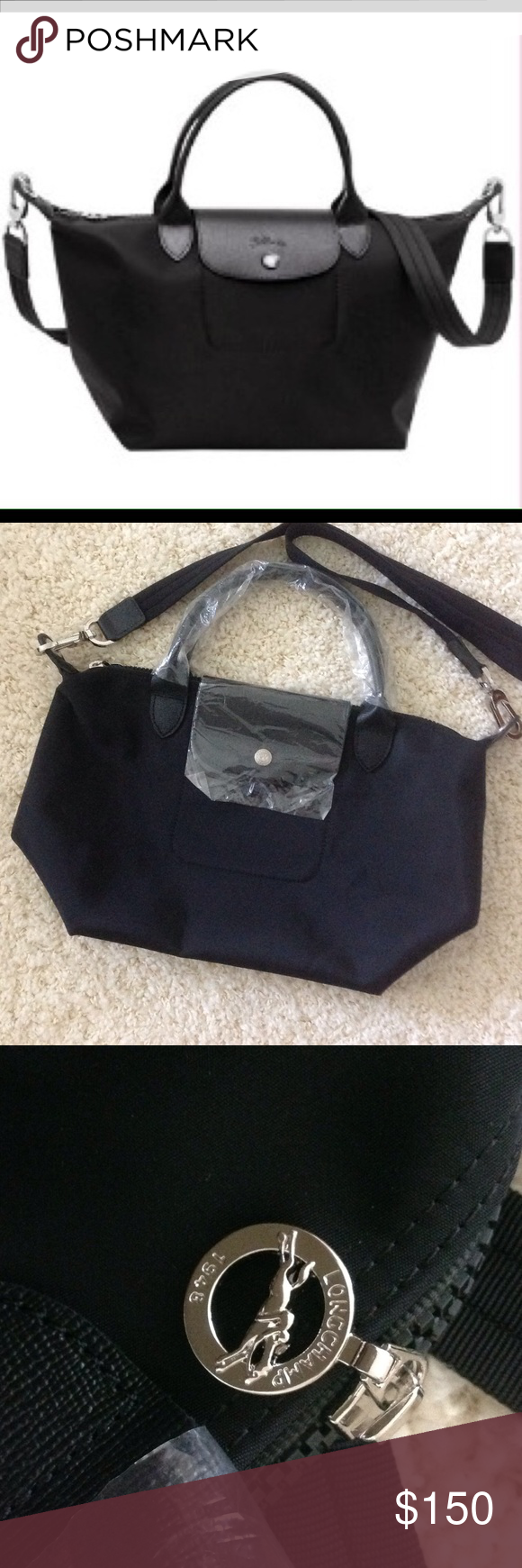 New Authentic Longchamp Black Neo Small Duffel Bag My Posh Picks Nwot Purchased From Another Posher Never Usedstill Has Plastic On Handles And Flap