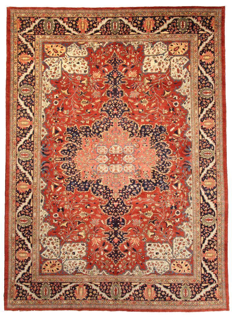 Farahan Carpet Northeast Persia All Natural Hand Spun Wool 9 2 X 12 8 Ft Hazara Gallery