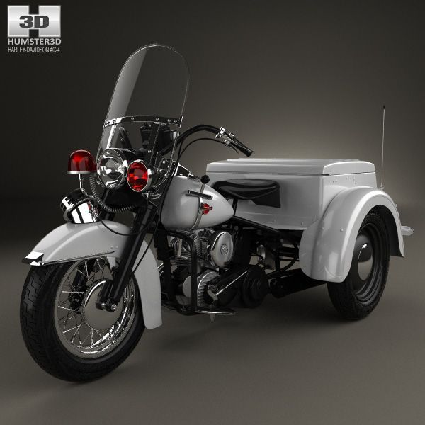 Harley Davidson Servi Car Police 1958 3d Model From Humster3d Com Price 75 Harley Davidson Model