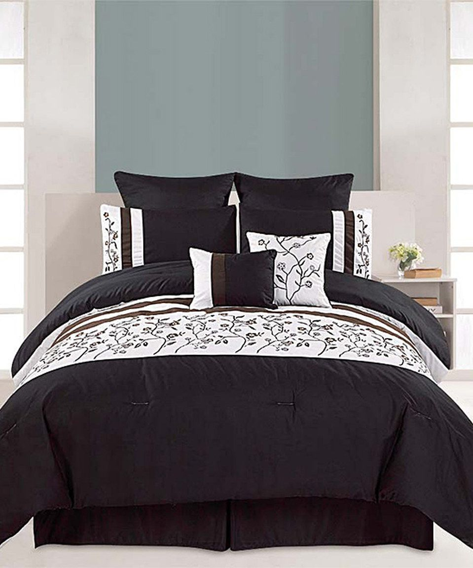 This Black Melbourne Comforter Set By Is Perfect