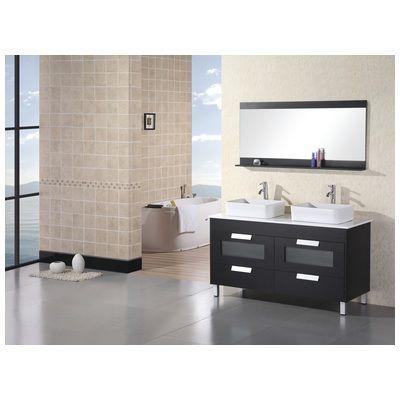 "Design Element Francesca 55"" Double Sink Vanity Set In Espresso Gorgeous Design Element Bathroom Vanity Decorating Design"