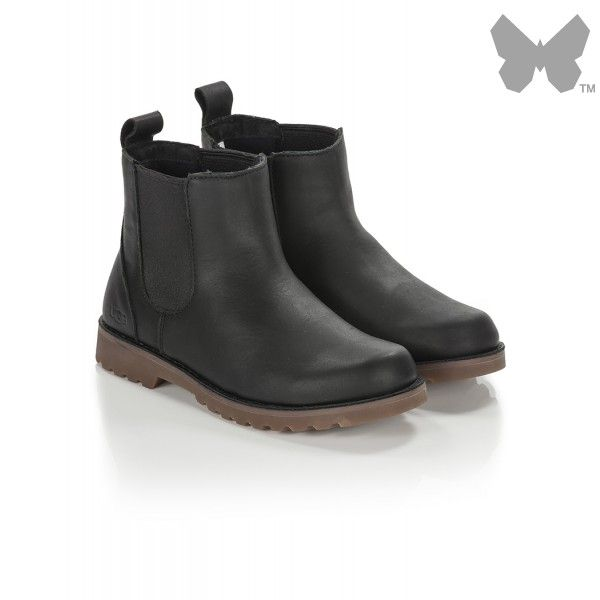 55faeac2517 Ugg Kids' Callum Leather Chelsea Boots - Black | style | Leather ...