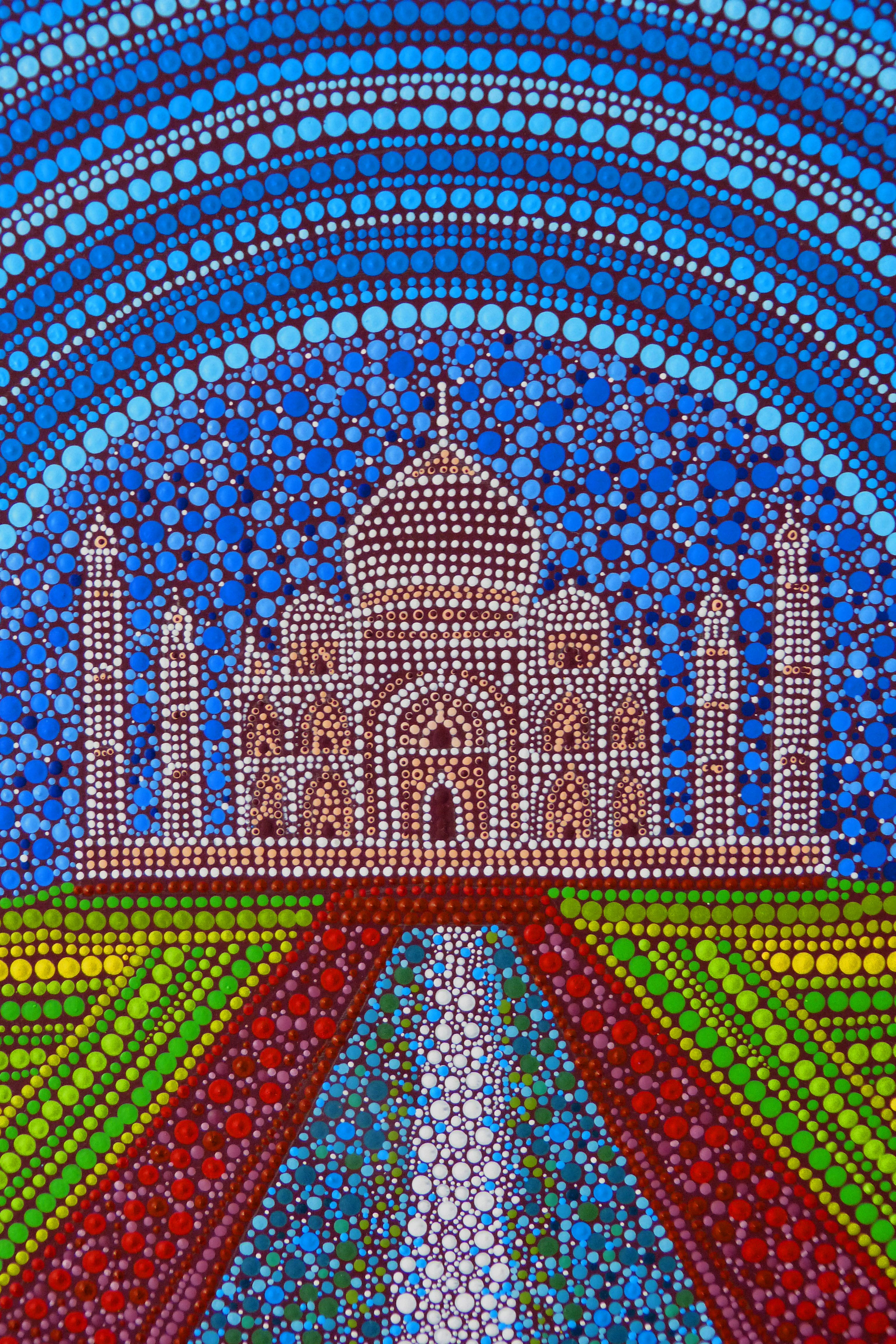 Taj Mahal painted by Melinda Tamas, dot painting, acylic | designs ...
