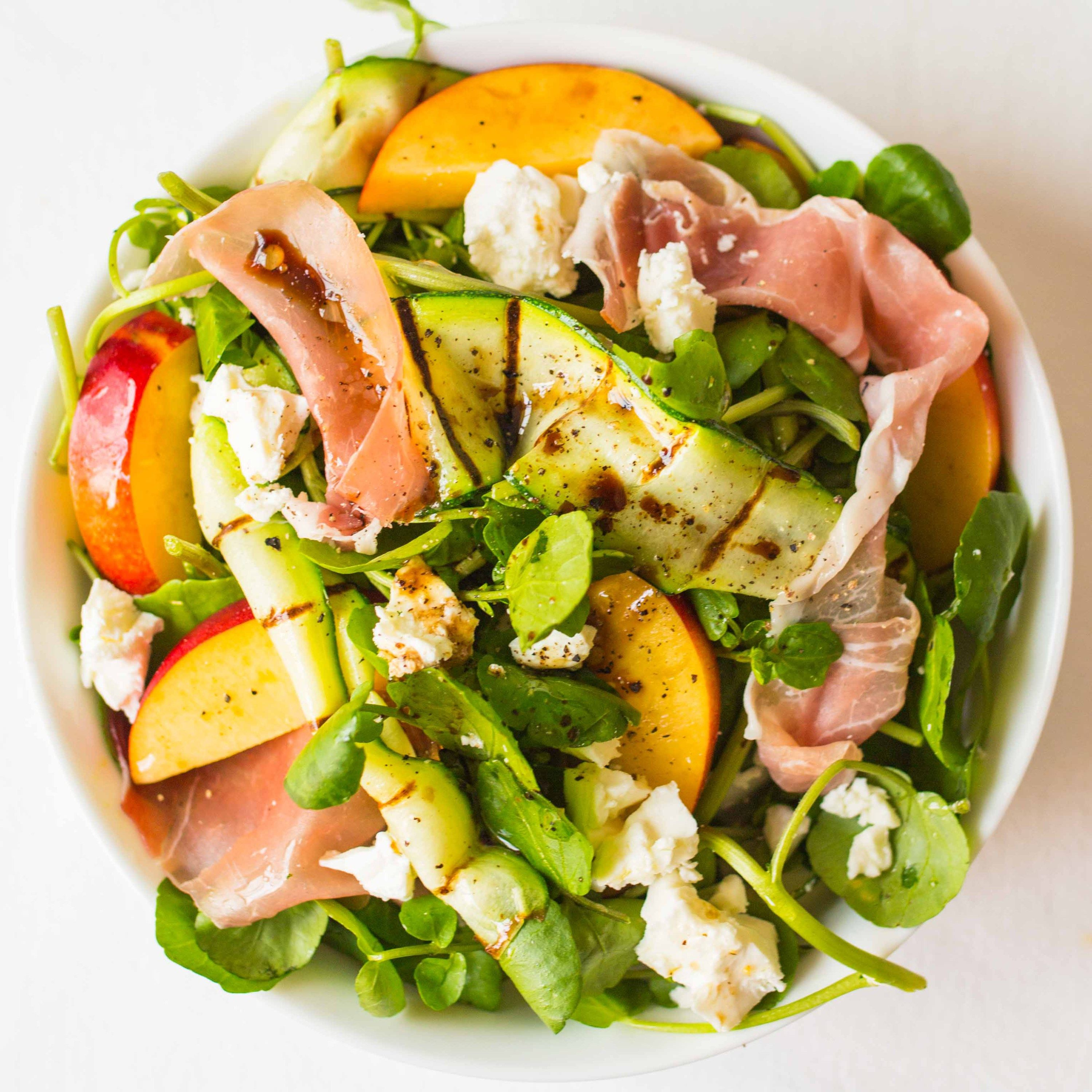 Shrimp Nectarine Salad Recipe: Prosciutto, Feta And Nectarine Salad With Griddled