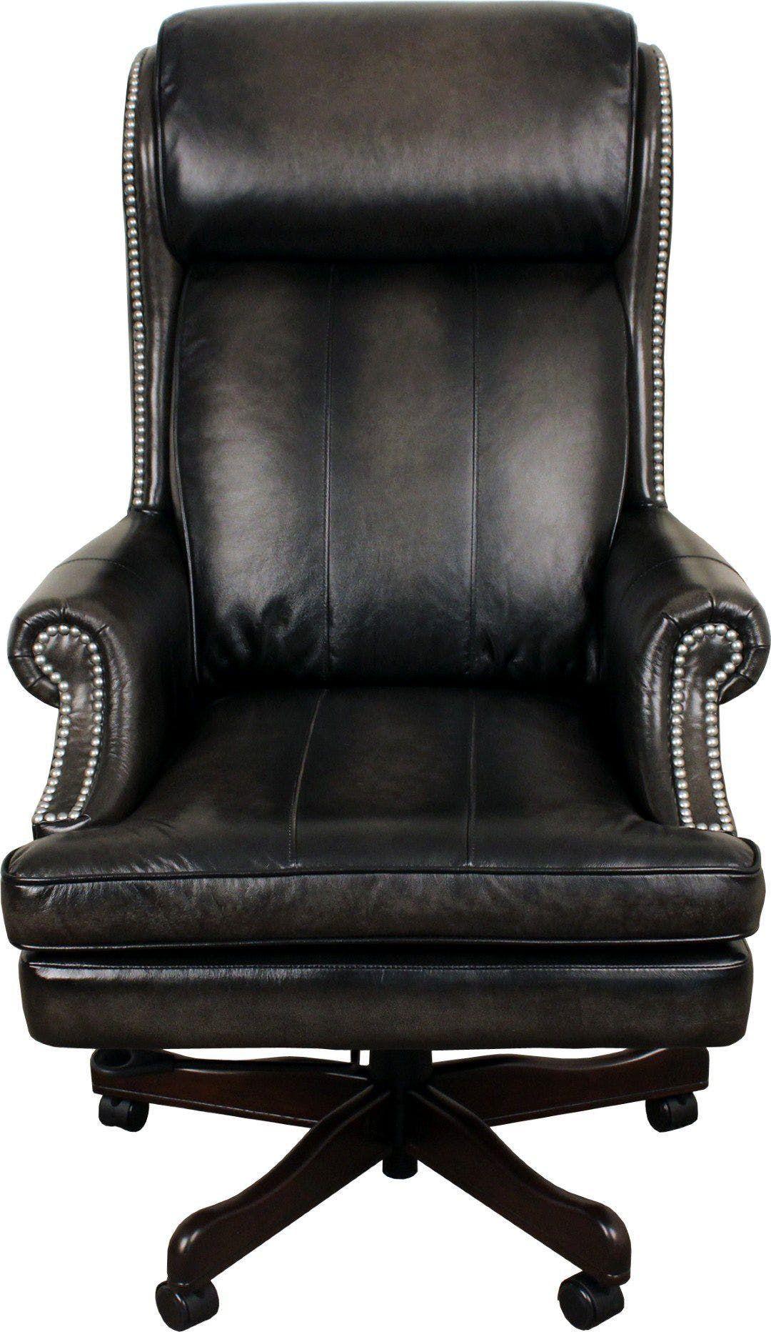 Prestige Office Smoke Wipe Leather Desk Executive Chair