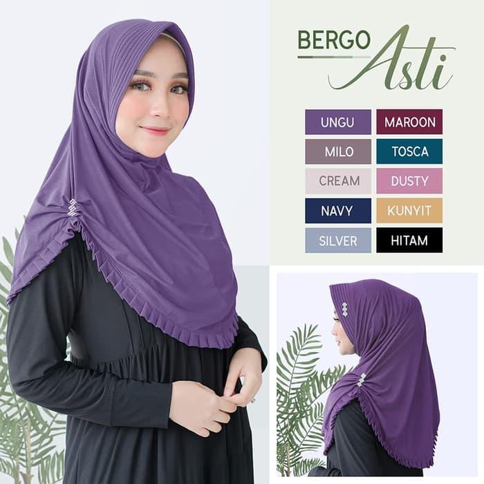 Hijab Syar I Bergo Asti Model Terbaru 2019 Https Www Trendshijab Com Hijab Syari Asti Jilbab Hijab Jilbab Instan