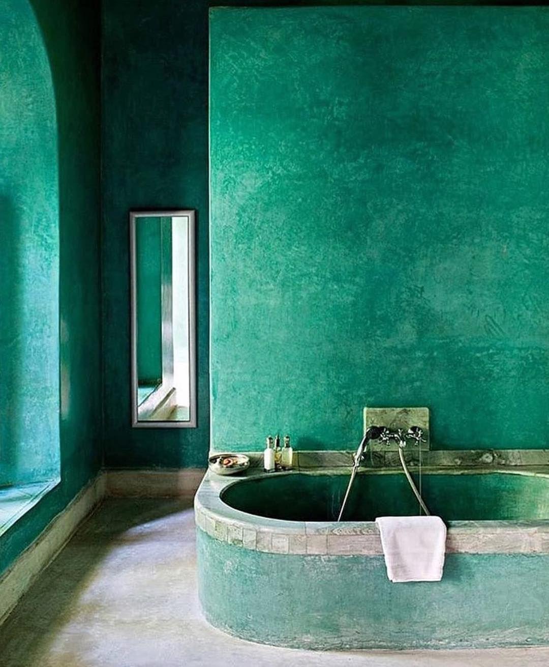 Green Walls Emerald Green Bathroom Soba In 2019