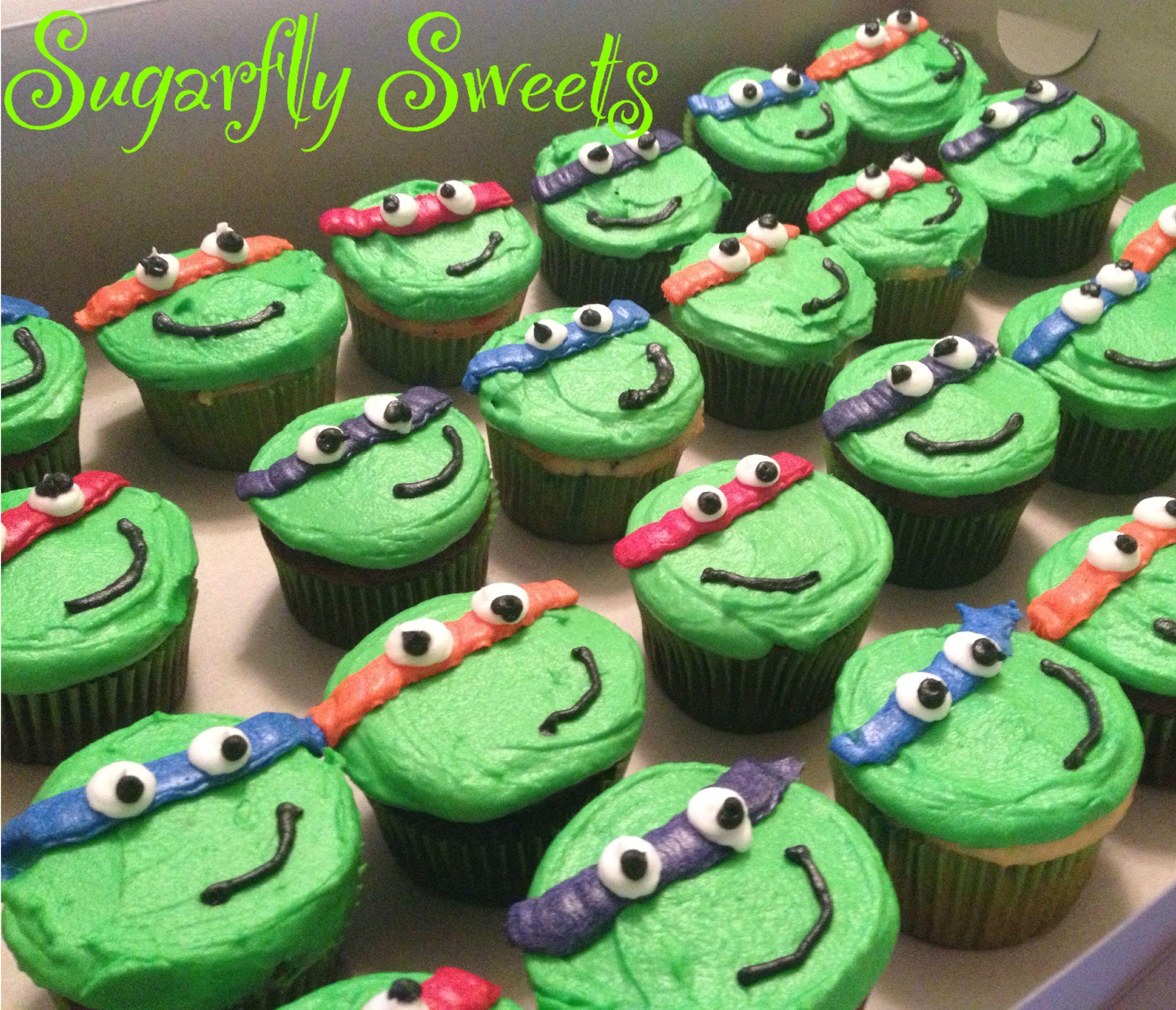 teenage mutant ninja turtles cupcakes love the tmnt theme nolan rh pinterest com