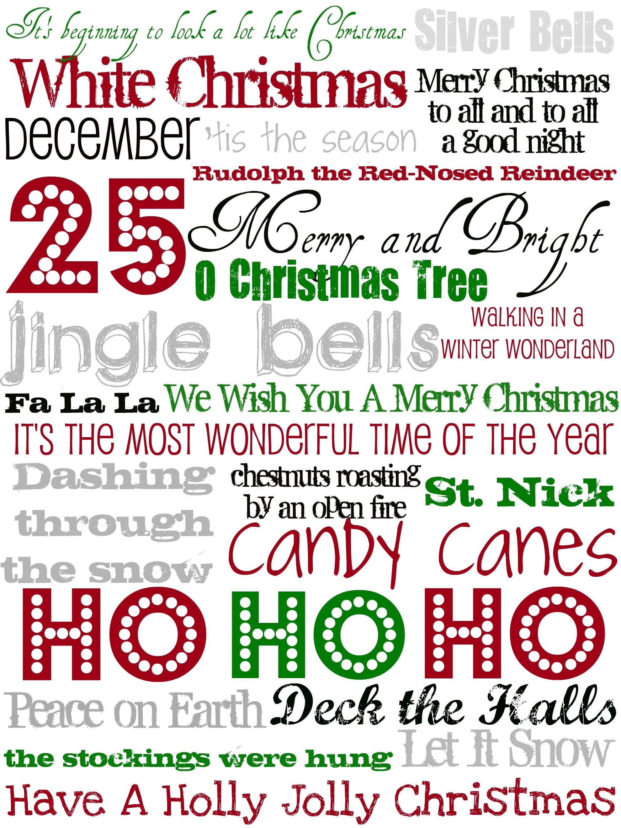 Christmas subway art | Subway sayings thru the year! | Pinterest ...