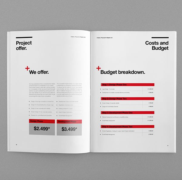 Proposal Template Suisse Design with Invoice on Behance Editorial