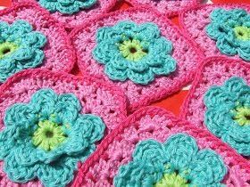 Haakkamer7 Patroon Bloem Granny Flower Granny Haken Gratis
