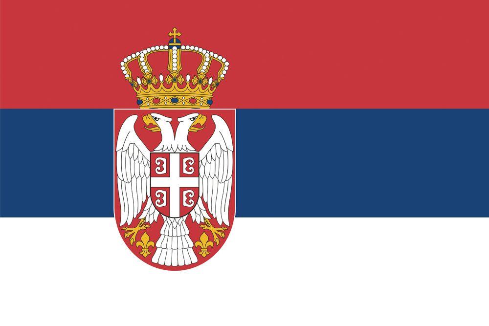 SERBIA Flag Custom License Plate NATIONAL Emblem EAGLE Version