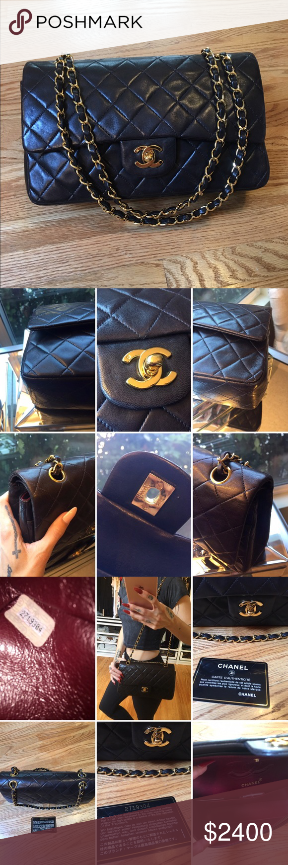 f14b48aeb8bf Chanel Classic MED 2.55 Double Flap Bag! VINTAGE CHANEL 10