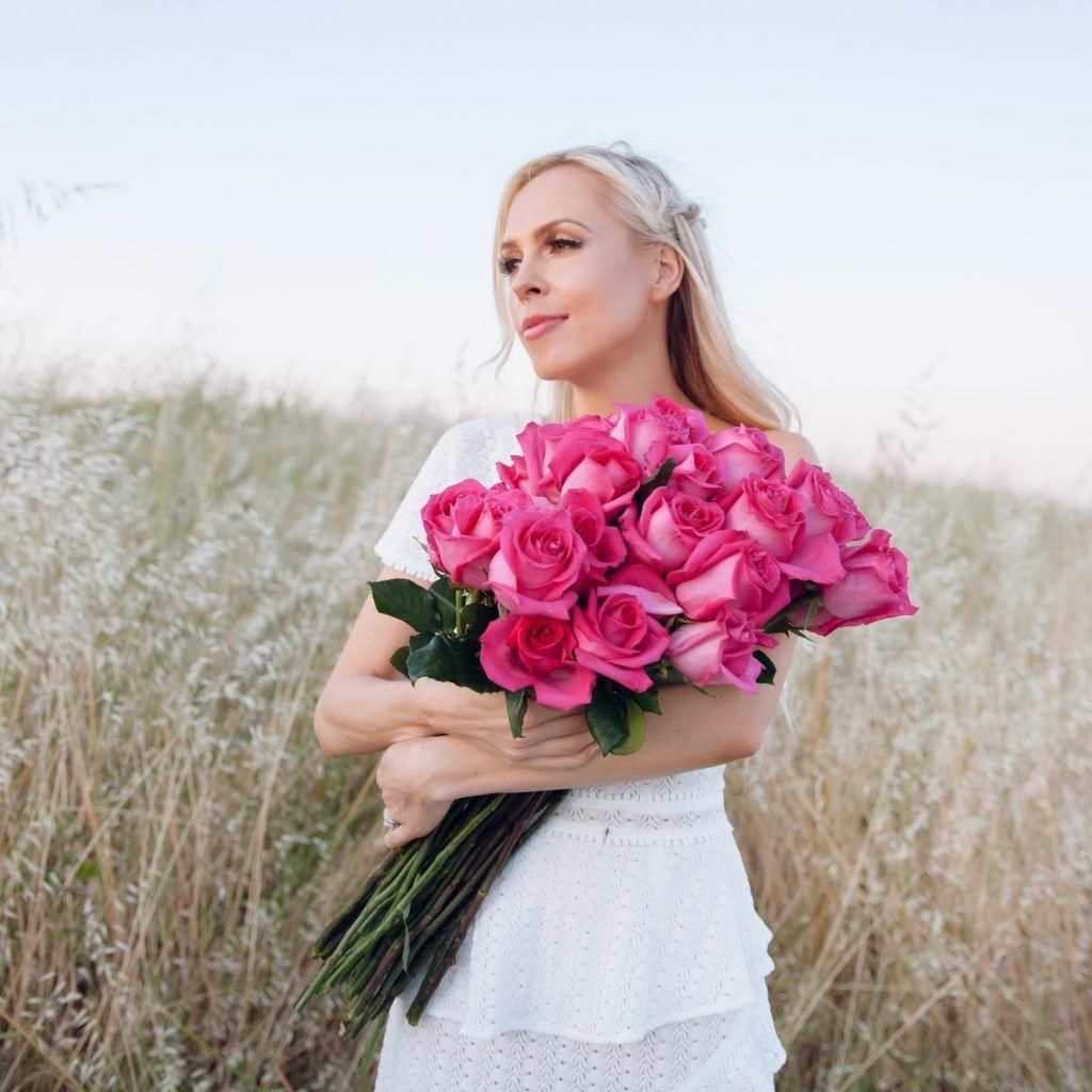 4ece8af35712 Be Glammed, adelyn rae TRIXIE Knit One-Shoulder Dress, hair blogger ...