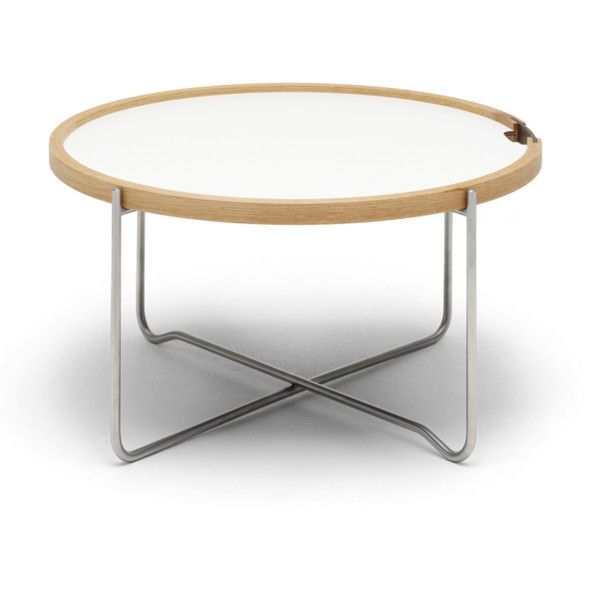 Carl Hansen CH417 Tray Table (1 005 AUD) ❤ liked on Polyvore featuring home, furniture, tables, folding table, folding tray table and folding furniture