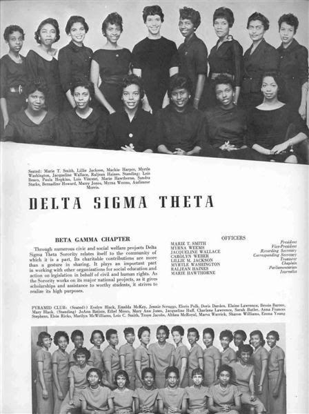 Dillard University Beta Gamma 1959 With Images Delta Sigma