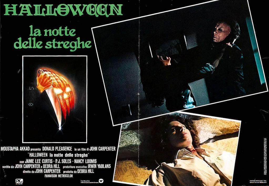 Italian poster for Halloween (1978)
