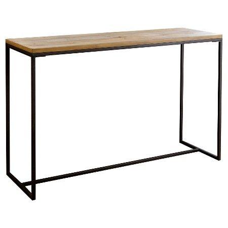 Kirkwood Industrial Sofa Table - Natural Wood - Abbyson Living : Target