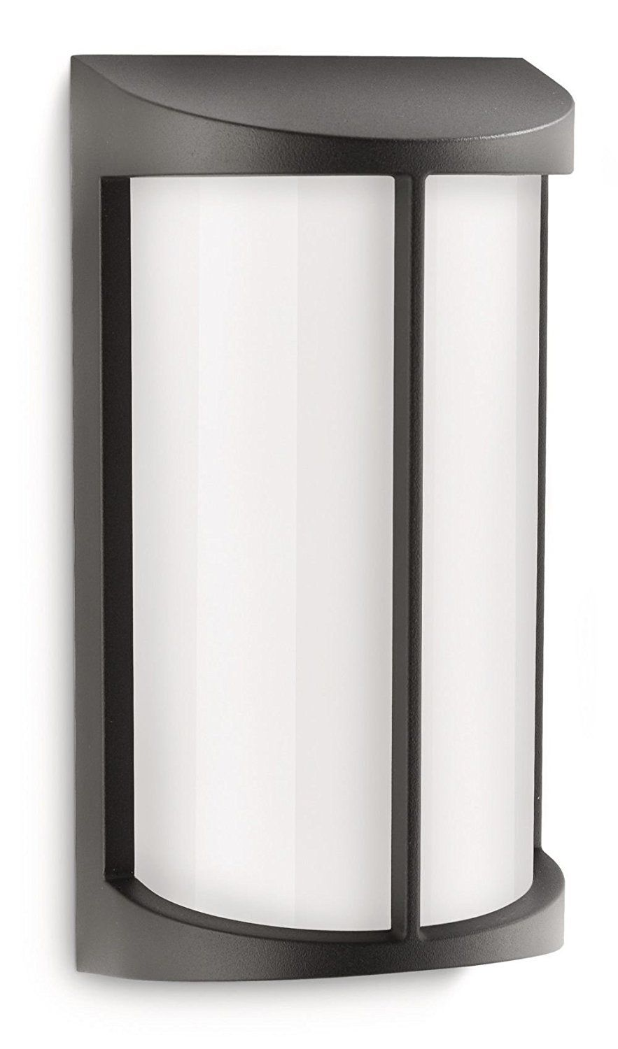 Philips ecomoods pond outdoor wall light black includes x