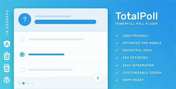 TotalPoll Pro - Responsive WordPress Poll Plugin | Best Premium