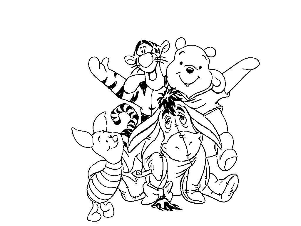 Винни Пух и его друзья | Раскраски, Мультфильмы, Рисовать