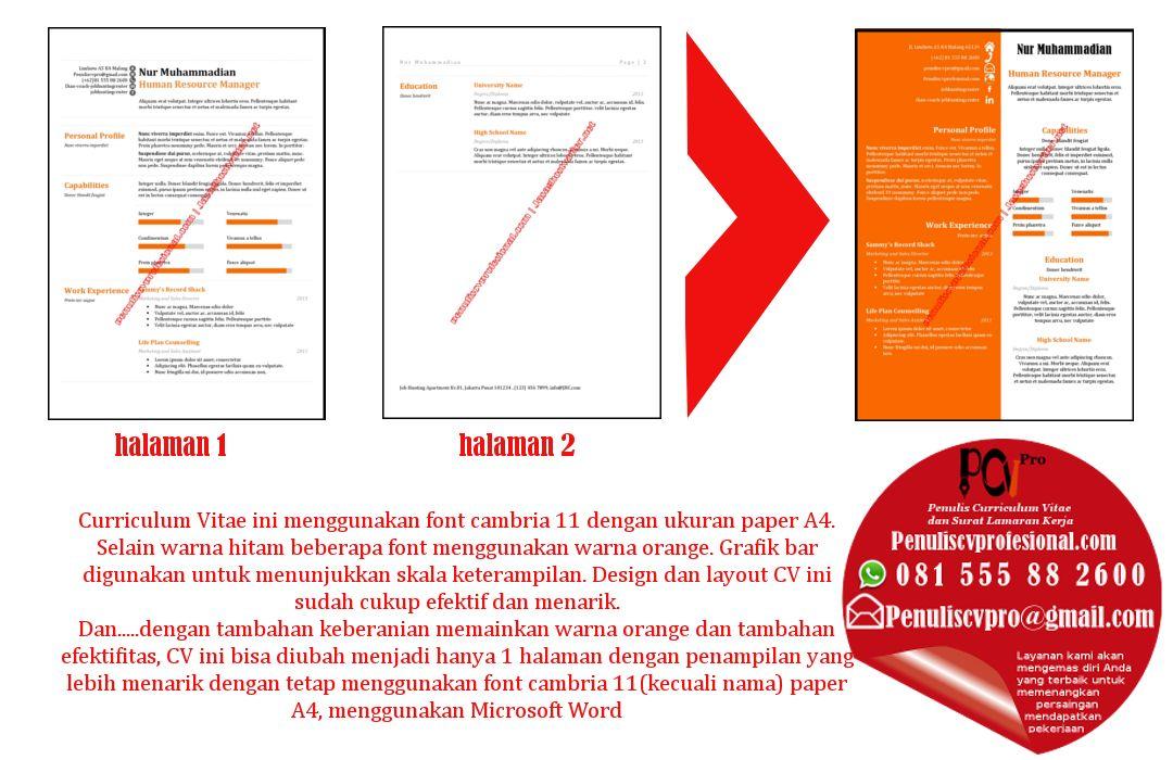 Jasa Cv kreatif, Desain resume, Riwayat hidup