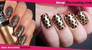 Resultado de imagen para uñas decoradas tonos dorados