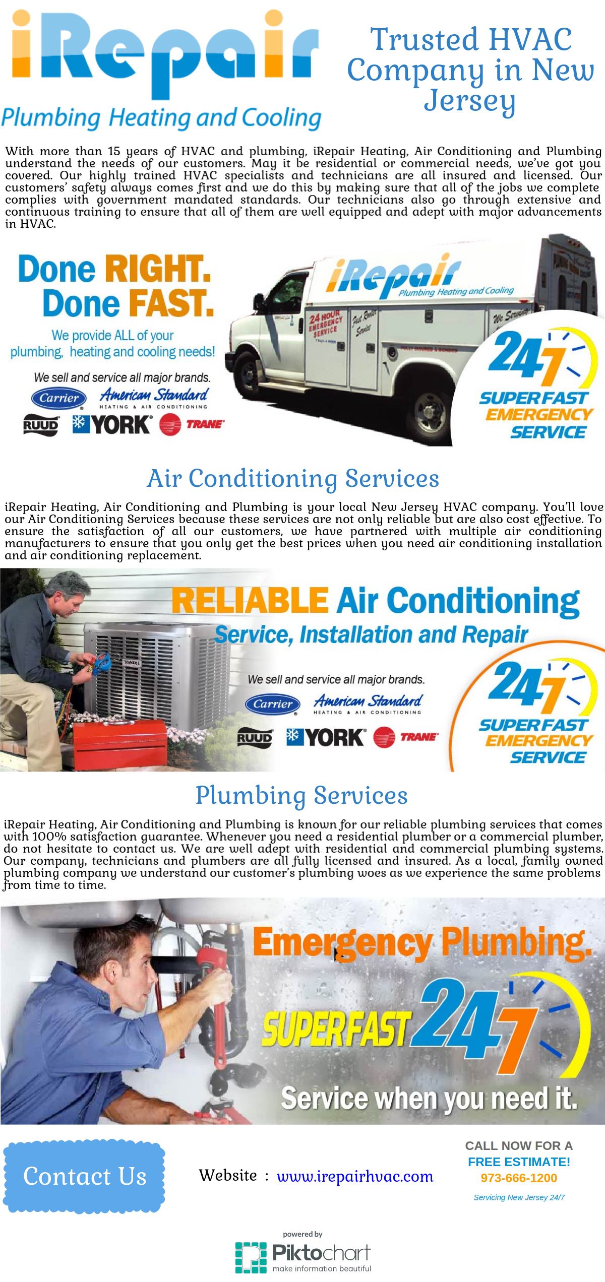 With More Than 15 Years Of Hvac And Plumbing Irepair Heating Air