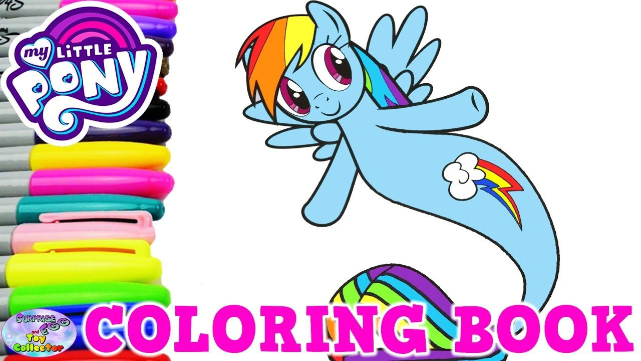 My Little Pony Coloring Book Rainbow Dash Mermaid Sea Pony Mlp