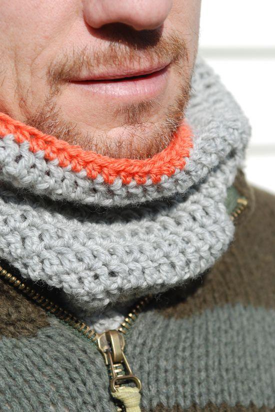 Men\'s neck warmer   Crochet   Pinterest   Guantes y Tejido
